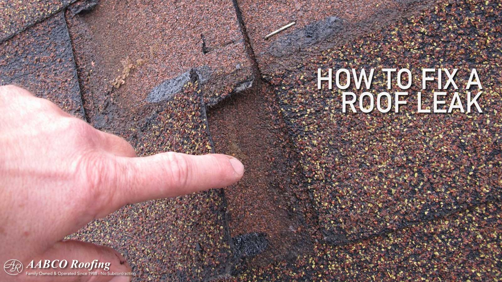 fix a roof leak