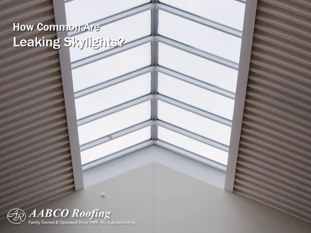 leaking skylight repair
