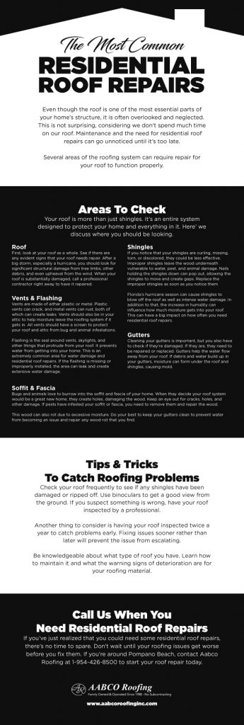 residential roof repairs infographic